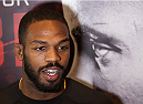 LAS VEGAS, NEVADA - DECEMBER 31:  Jon Jones talks to the media during the UFC 182 Open Workouts at the MGM Grand Hotel and Casino on December 31, 2014 in Las Vegas, Nevada. (Photo by Brandon Magnus/Zuffa LLC/Zuffa LLC via Getty Images)