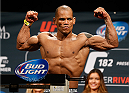 LAS VEGAS, NV - JANUARY 02:  Hector Lombard of Cuba poses on the scale after weighing in during the UFC 182 weigh-in event at the MGM Grand Conference Center on January 2, 2015 in Las Vegas, Nevada. (Photo by Josh Hedges/Zuffa LLC/Zuffa LLC via Getty Images)