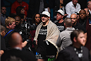LAS VEGAS, NV - JANUARY 03:  Shawn Jordan enters the arena in his heavyweight bout against Jared Cannonier during the UFC 182 event at the MGM Grand Garden Arena on January 3, 2015 in Las Vegas, Nevada.  (Photo by Jeff Bottari/Zuffa LLC/Zuffa LLC via Getty Images)