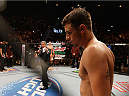 LAS VEGAS, NV - JANUARY 03:  Myles Jury enters the Octagon before facing Donald Cerrone in their lightweight bout during the UFC 182 event on at the MGM Grand Garden Arena January 3, 2015 in Las Vegas, Nevada.  (Photo by Josh Hedges/Zuffa LLC/Zuffa LLC via Getty Images)