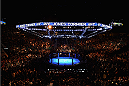 LAS VEGAS, NV - JANUARY 03:  A general view of the Octagon during the UFC 182 event at the MGM Grand Garden Arena on January 3, 2015 in Las Vegas, Nevada.  (Photo by Jeff Bottari/Zuffa LLC/Zuffa LLC via Getty Images)