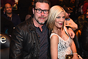 LAS VEGAS, NV - JANUARY 03:  Reality TV Personalities Tori Spelling (R) and Dean McDermot (L) in attendance at UFC 182 event at the MGM Grand Garden Arena on January 3, 2015 in Las Vegas, Nevada.  (Photo by Jeff Bottari/Zuffa LLC/Zuffa LLC via Getty Images)