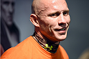BOSTON, MA - JANUARY 15:  UFC lightweight Donald 'Cowboy' Cerrone speaks to the media during the open workouts session at UFC Gym on January 15, 2015 in Boston, Massachusetts. (Photo by Jeff Bottari/Zuffa LLC/Zuffa LLC via Getty Images)