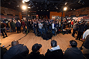 BOSTON, MA - JANUARY 16:  A general view as fighters interact with media at Faneuil Hall on January 16, 2015 in Boston, Massachusetts. (Photo by Jeff Bottari/Zuffa LLC/Zuffa LLC via Getty Images)