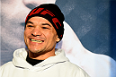 BOSTON, MA - JANUARY 16:  UFC lightweight Gleison Tibau of Brazil interacts with media at Faneuil Hall on January 16, 2015 in Boston, Massachusetts. (Photo by Jeff Bottari/Zuffa LLC/Zuffa LLC via Getty Images)