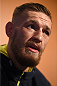 BOSTON, MA - JANUARY 16:  UFC featherweight Conor McGregor of Ireland interacts with media at Faneuil Hall on January 16, 2015 in Boston, Massachusetts. (Photo by Jeff Bottari/Zuffa LLC/Zuffa LLC via Getty Images)