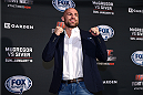BOSTON, MA - JANUARY 16:  UFC welterweight Cathal Pendred of Ireland interacts with media at Faneuil Hall on January 16, 2015 in Boston, Massachusetts. (Photo by Jeff Bottari/Zuffa LLC/Zuffa LLC via Getty Images)