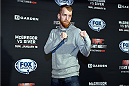 BOSTON, MA - JANUARY 16:  UFC flyweight Paddy Holohan of Ireland interacts with media at Faneuil Hall on January 16, 2015 in Boston, Massachusetts. (Photo by Jeff Bottari/Zuffa LLC/Zuffa LLC via Getty Images)