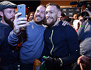 BOSTON, MA - JANUARY 16:  UFC featherweight Conor McGregor of Ireland interacts with fans at Faneuil Hall on January 16, 2015 in Boston, Massachusetts. (Photo by Jeff Bottari/Zuffa LLC/Zuffa LLC via Getty Images)