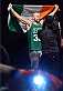 BOSTON, MA - JANUARY 17:  Cathal Pendred of Ireland walks on stage holding an Irish flag during the UFC Fight Night Boston weigh-in event at the Orpheum Theatre on January 17, 2015 in Boston, Massachusetts. (Photo by Jeff Bottari/Zuffa LLC/Zuffa LLC via Getty Images)