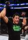 BOSTON, MA - JANUARY 18:  Joby Sanchez reacts after defeating Tateki Matsuda in their flyweight fight during the UFC Fight Night event at the TD Garden on January 18, 2015 in Boston, Massachusetts. (Photo by Jeff Bottari/Zuffa LLC/Zuffa LLC via Getty Images)