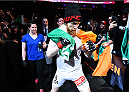 BOSTON, MA - JANUARY 18:  Paddy Holohan enters the arena before a flyweight fight against Shane Howell during the UFC Fight Night event at the TD Garden on January 18, 2015 in Boston, Massachusetts. (Photo by Jeff Bottari/Zuffa LLC/Zuffa LLC via Getty Images)