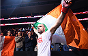 BOSTON, MA - JANUARY 18:  Cathal Pendred enters the arena before a welterweight fight against Sean Spencer during the UFC Fight Night event at the TD Garden on January 18, 2015 in Boston, Massachusetts. (Photo by Jeff Bottari/Zuffa LLC/Zuffa LLC via Getty Images)