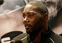 STOCKHOLM, SWEDEN - JANUARY 21:  Anthony Johnson of the United States interacts with media during the UFC Ultimate Media Day at the Tele2 Arena on January 21, 2015 in Stockholm, Sweden. (Photo by Josh Hedges/Zuffa LLC/Zuffa LLC via Getty Images)