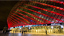 STOCKHOLM, SWEDEN - JANUARY 24: Tele2 Arena light up before the UFC Fight Night event at Tele2 Arena on January 24, 2015 in Stockholm, Sweden. (Photo by Michael Campanella/Zuffa LLC via Getty)