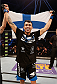 STOCKHOLM, SWEDEN - JANUARY 24:  Makwan Amirkhani of Finland celebrates after his knockout victory over Andy Ogle of England in their featherweight bout during the UFC Fight Night event at the Tele2 Arena on January 24, 2015 in Stockholm, Sweden. (Photo by Josh Hedges/Zuffa LLC/Zuffa LLC via Getty Images)