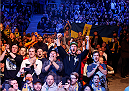 STOCKHOLM, SWEDEN - JANUARY 24:  A general view of fans cheering during the UFC Fight Night event at the Tele2 Arena on January 24, 2015 in Stockholm, Sweden. (Photo by Josh Hedges/Zuffa LLC/Zuffa LLC via Getty Images)