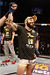 STOCKHOLM, SWEDEN - JANUARY 24:  Sam Sicilia of the United States celebrates after his knockout victory over Akira Corassani of Sweden in their featherweight bout during the UFC Fight Night event at the Tele2 Arena on January 24, 2015 in Stockholm, Sweden. (Photo by Josh Hedges/Zuffa LLC/Zuffa LLC via Getty Images)
