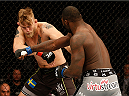 STOCKHOLM, SWEDEN - JANUARY 24:  (R-L) Anthony Johnson of the United States punches Alexander Gustafsson of Sweden in their light heavyweight bout during the UFC Fight Night event at the Tele2 Arena on January 24, 2015 in Stockholm, Sweden. (Photo by Josh Hedges/Zuffa LLC/Zuffa LLC via Getty Images)