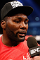 STOCKHOLM, SWEDEN - JANUARY 24:  Anthony Johnson of the United States is interviewed after his knockout victory over Alexander Gustafsson of Sweden in their light heavyweight bout during the UFC Fight Night event at the Tele2 Arena on January 24, 2015 in Stockholm, Sweden. (Photo by Josh Hedges/Zuffa LLC/Zuffa LLC via Getty Images)