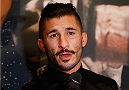 LAS VEGAS, NEVADA - JANUARY 29:  Ian McCall interacts with media during the UFC 183 Ultimate Media Day at the MGM Grand Hotel/Casino on January 29, 2015 in Las Vegas, Nevada. (Photo by Josh Hedges/Zuffa LLC/Zuffa LLC via Getty Images)