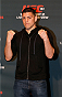 LAS VEGAS, NEVADA - JANUARY 29:  Nick Diaz poses for photos during the UFC 183 Ultimate Media Day at the MGM Grand Hotel/Casino on January 29, 2015 in Las Vegas, Nevada. (Photo by Josh Hedges/Zuffa LLC/Zuffa LLC via Getty Images)