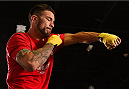 BROOMFIELD, CO - FEBRUARY 12:  Brandon Thatch holds an open training session for fans and media at the UFC Gym on February 12, 2015 in Broomfield, Colorado. (Photo by Josh Hedges/Zuffa LLC/Zuffa LLC via Getty Images)