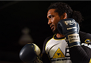 BROOMFIELD, CO - FEBRUARY 12:  Former UFC lightweight champion Benson Henderson holds an open training session for fans and media at the UFC Gym on February 12, 2015 in Broomfield, Colorado. (Photo by Josh Hedges/Zuffa LLC/Zuffa LLC via Getty Images)