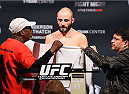 BROOMFIELD, CO - FEBRUARY 13: Chris Kelades weighs in during the UFC weigh-in at the 1stBank Center on February 13, 2015 in Broomfield, Colorado. (Photo by Josh Hedges/Zuffa LLC/Zuffa LLC via Getty Images)