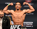 BROOMFIELD, CO - FEBRUARY 13:  Kevin Lee weighs in during the UFC weigh-in at the 1stBank Center on February 13, 2015 in Broomfield, Colorado. (Photo by Josh Hedges/Zuffa LLC/Zuffa LLC via Getty Images)