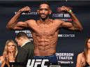 BROOMFIELD, CO - FEBRUARY 13: Neil Magny weighs in during the UFC weigh-in at the 1stBank Center on February 13, 2015 in Broomfield, Colorado. (Photo by Josh Hedges/Zuffa LLC/Zuffa LLC via Getty Images)