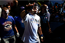 PORTO ALEGRE, BRAZIL - FEBRUARY 22: Frank Mir of United State enters the arena before his heavyweight bout against Antonio Silva of Brazil during the UFC Fight Night at Gigantinho Gymnasium on February 22, 2015 in Porto Alegre, Brazil. (Photo by Buda Mendes/Zuffa LLC/Zuffa LLC via Getty Images)