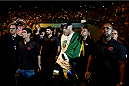 "PORTO ALEGRE, BRAZIL - FEBRUARY 22: Antonio ""Bigfoot"" Silva of Brazil enters the arena before his heavyweight bout against Frank Mir of the United States during the UFC Fight Night at Gigantinho Gymnasium on February 22, 2015 in Porto Alegre, Brazil. (Photo by Buda Mendes/Zuffa LLC/Zuffa LLC via Getty Images)"