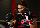 TORRANCE, CA - FEBRUARY 24:  Cat Zingano holds an open training session for fans and media at the UFC Gym on February 24, 2015 in Torrance, California. (Photo by Josh Hedges/Zuffa LLC/Zuffa LLC via Getty Images)