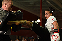 TORRANCE, CA - FEBRUARY 24:  Raquel Pennington holds an open training session for fans and media at the UFC Gym on February 24, 2015 in Torrance, California. (Photo by Josh Hedges/Zuffa LLC/Zuffa LLC via Getty Images)