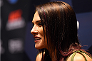 LOS ANGELES, CA - FEBRUARY 25:  Cat Zingano interacts with media during the UFC 184 Ultimate Media Day at Club Nokia on February 25, 2015 in Los Angeles, California. (Photo by Josh Hedges/Zuffa LLC/Zuffa LLC via Getty Images)