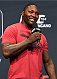 "LOS ANGELES, CA - FEBRUARY 27:  UFC light heavyweight Anthony ""Rumble"" Johnson interacts with fans during a Q&A session before before the UFC 184 weigh-in at the Event Deck and LA Live on February 27, 2015 in Los Angeles, California. (Photo by Josh Hedges/Zuffa LLC/Zuffa LLC via Getty Images)"