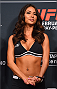 LOS ANGELES, CA - FEBRUARY 27:  UFC Octagon Girl Arianny Celeste stands on stage during the UFC 184 weigh-in at the Event Deck and LA Live on February 27, 2015 in Los Angeles, California. (Photo by Josh Hedges/Zuffa LLC/Zuffa LLC via Getty Images)