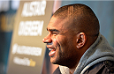 DALLAS, TX - MARCH 12:  Alistair Overeem of the Netherlands interacts with media during the UFC 185 Ultimate Media Day at the American Airlines Center on March 12, 2015 in Dallas, Texas. (Photo by Mike Roach/Zuffa LLC/Zuffa LLC via Getty Images)
