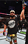 DALLAS, TX - MARCH 14:  Johny Hendricks celebrates after defeating Matt Brown in their welterweight bout during the UFC 185 event at the American Airlines Center on March 14, 2015 in Dallas, Texas. (Photo by Josh Hedges/Zuffa LLC/Zuffa LLC via Getty Images)