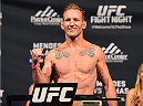 FAIRFAX, VA - APRIL 03:   Gray Maynard weighs in during the UFC weigh-in at the Patriot Center on April 3, 2015 in Fairfax, Virginia. (Photo by Josh Hedges/Zuffa LLC/Zuffa LLC via Getty Images)
