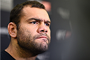 KRAKOW, POLAND - APRIL 08:  Gabriel Gonzaga of Brazil interacts with media during the UFC Fight Night Ultimate Media Day inside the TAURON Arena on April 8, 2015 in Krakow, Poland. (Photo by Jeff Bottari/Zuffa LLC/Zuffa LLC via Getty Images)
