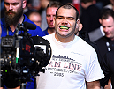 KRAKOW, POLAND - APRIL 11:  Gabriel Gonzaga of Brazil enters the arena before his heavyweight fight against Mirko Cro Cop of Croatia during the UFC Fight Night event at the Tauron Arena on April 11, 2015 in Krakow, Poland. (Photo by Jeff Bottari/Zuffa LLC/Zuffa LLC via Getty Images)