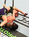 MONTREAL, QC - APRIL 25:   (R-L) Valerie Letourneau of Canada attempts to secure a triangle choke submission against Jessica Rakoczy in their women's strawweight bout during the UFC 186 event at the Bell Centre on April 25, 2015 in Montreal, Quebec, Canada. (Photo by Josh Hedges/Zuffa LLC/Zuffa LLC via Getty Images)