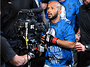 MONTREAL, QC - APRIL 25:   Demetrious Johnson of the United States enters the arena before his UFC flyweight championship bout against Kyoji Horiguchi during the UFC 186 event at the Bell Centre on April 25, 2015 in Montreal, Quebec, Canada. (Photo by Josh Hedges/Zuffa LLC/Zuffa LLC via Getty Images)