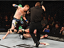 ADELAIDE, AUSTRALIA - MAY 10:   Sam Alvey knocks out Daniel Kelly in their middleweight bout during the UFC Fight Night event at the Adelaide Entertainment Centre on May 10, 2015 in Adelaide, Australia. (Photo by Josh Hedges/Zuffa LLC/Zuffa LLC via Getty Images)