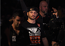 ADELAIDE, AUSTRALIA - MAY 10:   Stipe Miocic prepares to enter the Octagon before facing Mark Hunt in their heavyweight bout during the UFC Fight Night event at the Adelaide Entertainment Centre on May 10, 2015 in Adelaide, Australia. (Photo by Josh Hedges/Zuffa LLC/Zuffa LLC via Getty Images)