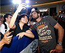 PASAY, PHILIPPINES - MAY 13: Gegard Mousasi interacts with fans during an open training session for fans and media at the Music Hall inside the Mall of Asia on May 13, 2015 in Pasay, Philippines. (Photo by Mitch Viquez/Zuffa LLC/Zuffa LLC via Getty Images)