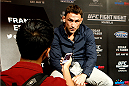 PARANAQUE, METRO MANILA, PHILIPPINES - MAY 14:  Frankie Edgar interacts with the media during the UFC Ultimate Media Day at the Solaire Resort and Casino on May 14, 2015 in Paranaque, Metro Manila, Philippines. (Photo by Mitch Viquez/Zuffa LLC/Zuffa LLC via Getty Images)