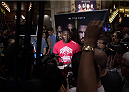 LAS VEGAS, NEVADA - MAY 20:   Anthony Johnson interacts with the media at the MGM Grand Hotel/Casino on May 20, 2015 in Las Vegas Nevada. (Photo by Brandon Magnus/Zuffa LLC/Zuffa LLC via Getty Images)
